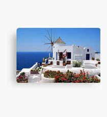 Santorini Island Greece Canvas Print
