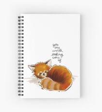 """You Are Worth Taking Care of"" Red Panda Spiral Notebook"