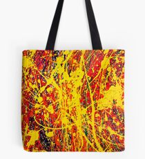Abstract Jackson Pollock Painting Original Art Titled: Unsteady Side Tote Bag