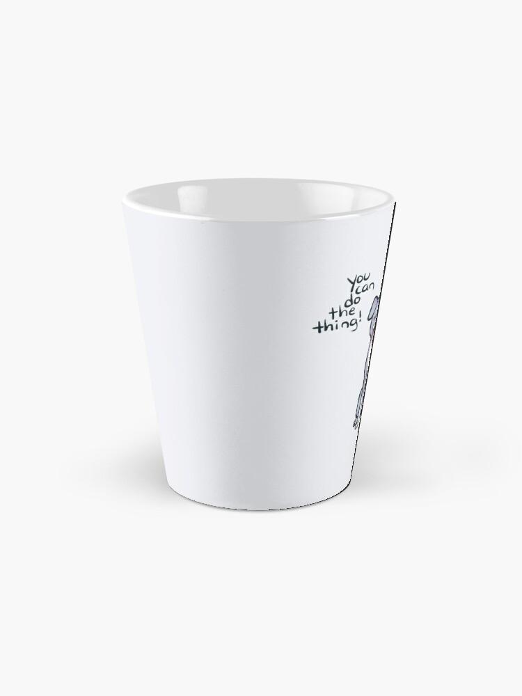"""Alternative Ansicht von """"Du kannst das Ding machen!"""" Welpen Hund Tasse"""