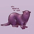 """""""You Deserve to Rest"""" Otter by thelatestkate"""