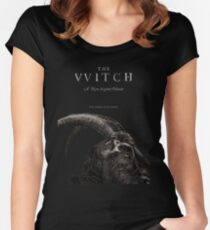 The Witch stylized as The VVitch horror movie Women's Fitted Scoop T-Shirt