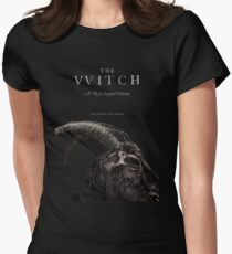 The Witch stylized as The VVitch horror movie Women's Fitted T-Shirt