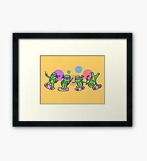 Hovering Turtles! Framed Print