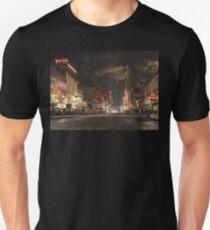 City - Dallas TX - Elm street at night 1941 Unisex T-Shirt