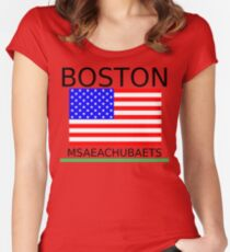 BOSTON, MSAEACHUBAETS Women's Fitted Scoop T-Shirt