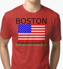BOSTON, MSAEACHUBAETS Tri-blend T-Shirt
