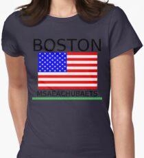 BOSTON, MSAEACHUBAETS Womens Fitted T-Shirt