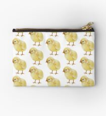 Watercolor Easter Chick, Fluffy Yellow Baby Chicken II Studio Pouch