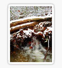 little winter waterfall Sticker