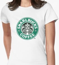 Snarlbucks Coffee Logo Womens Fitted T-Shirt