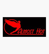 Almost Hot Beer Belly Angle Red Photographic Print