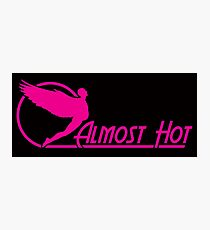 Almost Hot Beer Belly Angle Pink Photographic Print