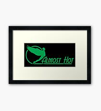 Almost Hot Beer Belly Angle Green Framed Print