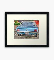 1965 Mustang-rear view Framed Print