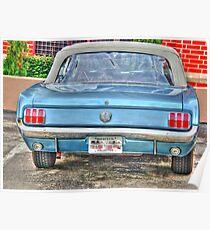 1965 Mustang-rear view Poster