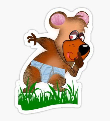 Shh.. Bear Has News! (Playing Dress UP)   (5935  Views ) Sticker