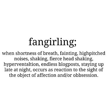 Fangirling by sprinkleofmia