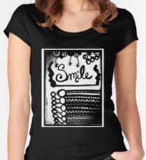 Rachel Doodle Art - Smile Women's Fitted Scoop T-Shirt