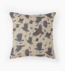 Flight of Ravens Throw Pillow