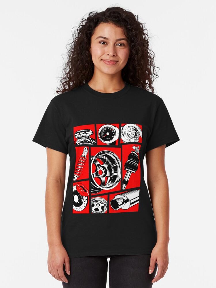 Vista alternativa de Camiseta clásica Cultura del coche