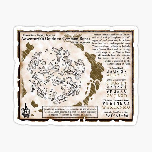 Adventurer's Guide to Common Runes Sticker
