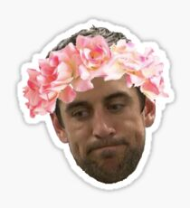 Flower Crown Aaron Rodgers  Sticker