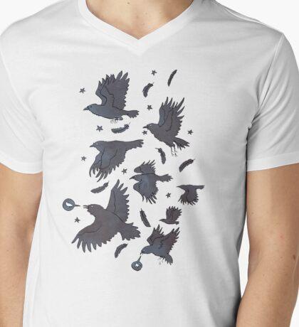 Flight of Ravens Mens V-Neck T-Shirt