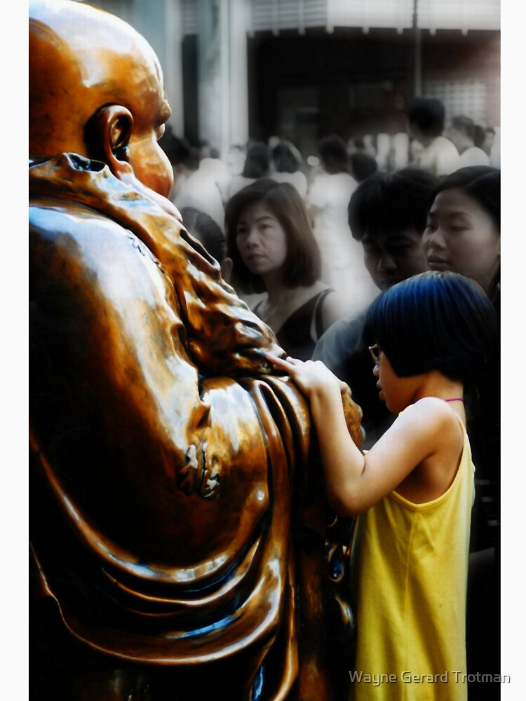 Touching Buddha by redmoondragon