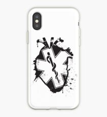 star of life anatomical heart iPhone Case