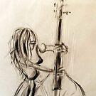 Femme contrebassiste 1 by Philip Gaida