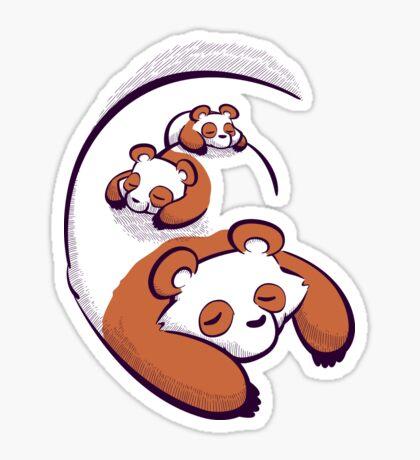 The Pandas Are Sleeping Sticker
