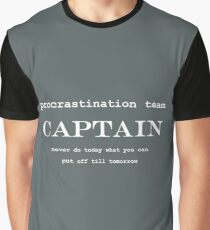Procrastination Team Captain Graphic T-Shirt