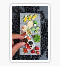 Mexican Food, Finger Sized Sticker