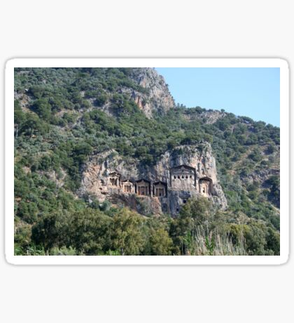 The Weathered Façades Of Lycian Tombs Sticker