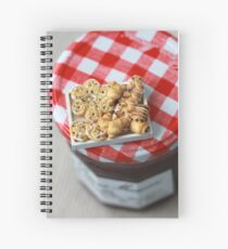 Pass the Jam and Miniature Croissants Spiral Notebook