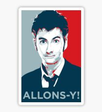 Tenth Doctor - Allons-y Sticker