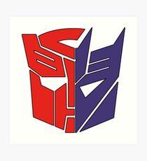 Transformadores Autobot / Decepticon Lámina artística