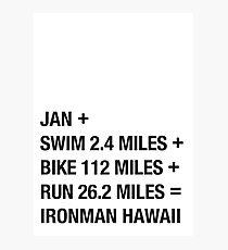 Ironman Hawaii Photographic Print