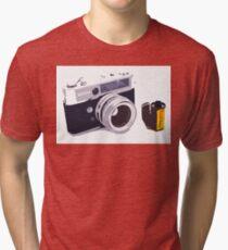 Film camera Tri-blend T-Shirt
