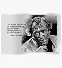 Charles BUKOWSKI - people quote Poster