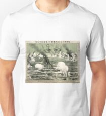 Destruction Of Russian Fleet Of War Vessels - anon - 1904 - chromolithograph T-Shirt