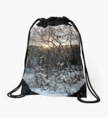 Winter Wonderland in Central Scotland Drawstring Bag