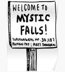 The vampire diaries-Mystic Falls Poster