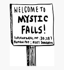The vampire diaries-Mystic Falls Photographic Print