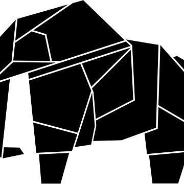 Origami Elephant by CalumLamb