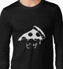Japanese Pizza Design Long Sleeve T-Shirt