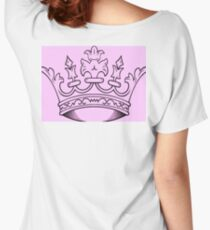 Pink Crown   Women's Relaxed Fit T-Shirt