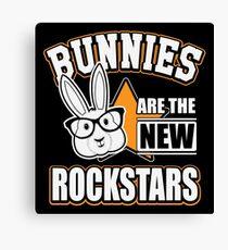 Bunnies are the new rockstars Leinwanddruck