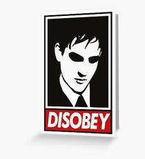 disobey peng Greeting Card